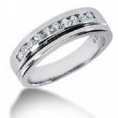 Men's Diamond Ring 10 Round Stone 0.05 ct Total 0.50 ctw 154-MDR1173