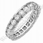 18k Gold Diamond Eternity Wedding Bands, Box Setting 3.00 ct. DEB00318K