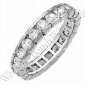 950 Platinum Diamond Eternity Wedding Bands, Box Setting 3.00 ct. DEB003PLT