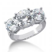 18K Diamond Engagement Ring 3 Round Stones Total 6.00 ctw. 1008-ENG318K-2460