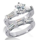 18K Gold Diamond Engagement Bridal Set 2.63ctw. 4001-18KENBR