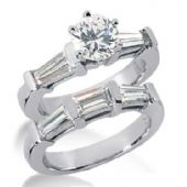 Platinum Diamond Engagement Bridal Set 2.63ctw. 4001-PLATENBR-107