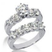 14K Gold Diamond Engagement Bridal Set 3.70ctw. 4004-14KENBR-136