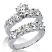 Platinum Diamond Engagement Bridal Set 3.70ctw. 4004-PLATENBR-136