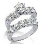 14K Gold Diamond Engagement Bridal Set 5.05ctw. 4005-14KENBR-138