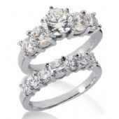 Platinum Diamond Engagement Bridal Set 3.09ctw. 4010-PLATENBR-300