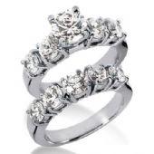 18K Gold Diamond Engagement Bridal Set 4.50ctw. 4011-18KENBR-331