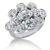 18K Bouquet Round Brilliant Diamond Anniversary Ring (4.5ctw.)