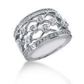 18K Linked Round Brilliant Diamond Anniversary Ring (0.92ctw.)