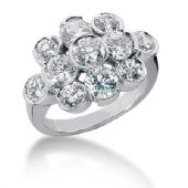18K Round Brilliant Pop Out Diamond Anniversary Ring (3.70ctw.)