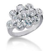 18K Round Brilliant Pop Out Diamond Anniversary Ring (3.70ctw.)