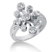 18K White Gold Circling Round Brilliant Diamond Anniversary Ring (0.75ctw.)