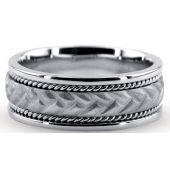 950 Platinum 6.5mm Handmade Wedding Band Rope Design 039