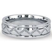 Platinum 950 6mm Diamond Cut Wedding Band 702