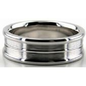 18K Gold 7mm Diamond Cut Wedding Band 640