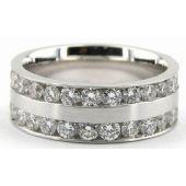 14K Gold 7mm Diamond Wedding Bands Rings 0901