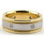 950 Platinum 7mm Diamond Wedding Bands Rings 0877