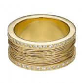 18k Yellow  Gold 10mm Diamond Wedding Bands Rings 2500