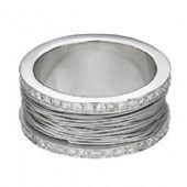 18k White Gold 10mm Diamond Wedding Bands Rings 2500