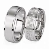 18k His & Hers Gold 0.48 ct Diamond 126 Wedding Band Set HH12618K