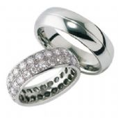 18k Gold His & Hers Diamond Wedding Band Set 2 ct. tw. HH16118K