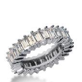 950 Platinum Diamond Eternity Wedding Bands, Shared Prong Setting 4.00 ct. DEB240PLT