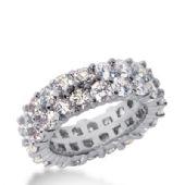 18k Gold Diamond Eternity Wedding Bands, Prong Setting 5.50 ct. DEB28618K
