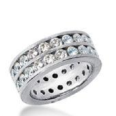 18k Gold Diamond Eternity Wedding Bands, Channel Setting 3.50 ct. DEB159718K
