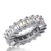 18k Gold Diamond Eternity Wedding Bands, Shared Prong Setting 7.00 ct. DEB24118K
