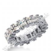 950 Platinum Diamond Eternity Wedding Bands, Prong Setting 7.00 ctw. DEB1814PLT