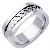 950 Platinum 7.5mm Handmade Wedding Ring 059 Almani