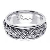 18K Gold 8mm Handmade Wedding Ring 071 Almani