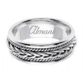 950 Platinum 7mm Handmade Wedding Ring 089 Almani
