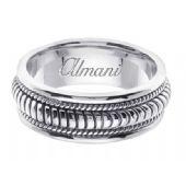 14K Gold 8mm Handmade Wedding Ring 111 Almani