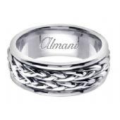 18K Gold 8mm Handmade Wedding Ring 115 Almani