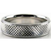 14K Gold 6mm Diamond Cut Wedding Band 681