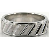 Platinum 950 7mm Diamond Cut Wedding Band 686