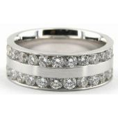 Platinum 950 7mm Diamond Wedding Bands Rings 0901