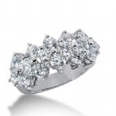18K Gold Diamond Anniversary Wedding Ring 16 Round Brilliant Diamonds 3.20ctw 158WR30618K