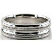 Platinum 950 6.5mm Diamond Cut Wedding Band 699
