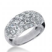 18k Gold Diamond Anniversary Wedding Ring 39 Round Brilliant Diamonds 2.13ctw 264WR112518K