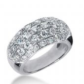 950 Platinum Diamond Anniversary Wedding Ring 39 Round Brilliant Diamonds 2.13ctw 264WR1125PLT