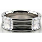 Platinum 950 7mm Diamond Cut Wedding Band 640