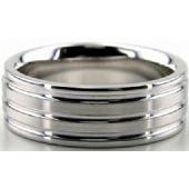 Platinum 950 7.5mm Diamond Cut Wedding Band 648