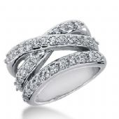 18k Gold Diamond Anniversary Wedding Ring 36 Round Brilliant Diamonds 1.48ctw 340WR148418K