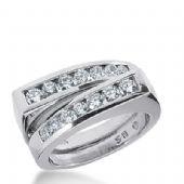 950 Platinum Diamond Anniversary Wedding Ring 16 Round Brilliant Diamonds 0.92ctw 387WR1577PLT
