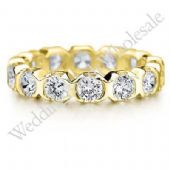 18K Gold 3mm Diamond Wedding Bands Rings 0902