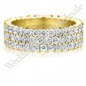 18K Gold 5mm Diamond Wedding Bands Rings 0916