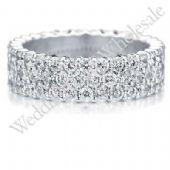 18K Gold 5mm Diamond Wedding Bands Rings 0908