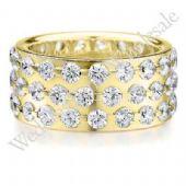 14K Gold 9mm Diamond Wedding Bands Rings 0907